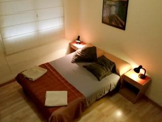 The room: Comfy pillows and cushoms and firm matress. Lots of Light
