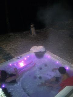 Hot Tub in the night time.