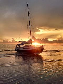 Sunsets so beautiful you forget the tides.