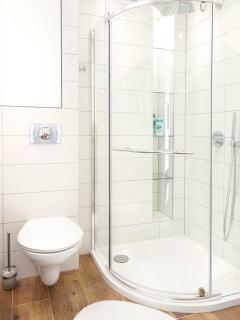 Bathroom with a rainshower.