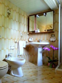 Il secondo bagno con doccia al secondo piano.