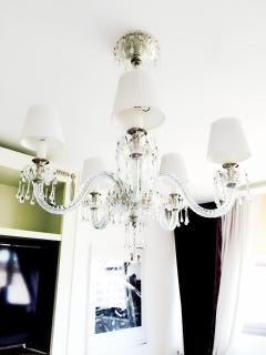 Glass Chandelier for perfect lighting.