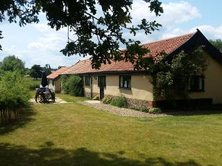 Duleep Singh Barn Front Garden with Gas BBQ, Table and Chairs