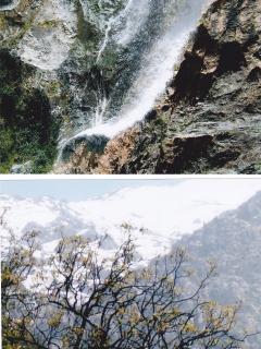 vue des cascades de la vallée de l'Ourika