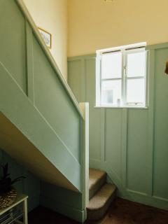 Panelled hallway/stairs