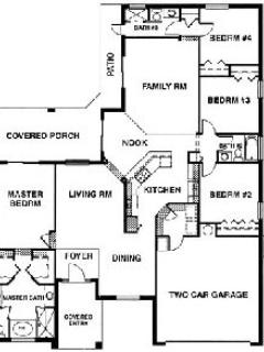 Floor plan over 2000sq feet of living space