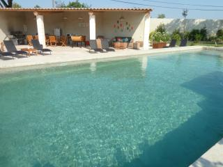 Le bassin et son pool house