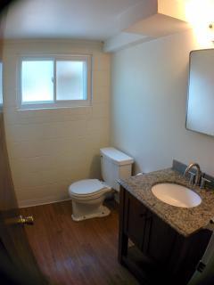 4 Bedroom South Boulder Home - 2nd bathroom with new flooring and granite top vanity