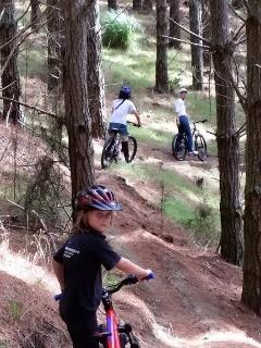 Woohill forrest mountain bike park.