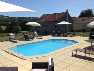 Heated pool and terrace area, relax reading a book or just gaze out to the amazing views.