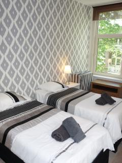 Master bedrooms: twin beds which can be made into kingsize bed