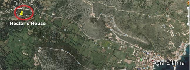 Google Earth position......2 mins drive to Agia Efimia