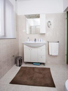 Bathroom upstairs - the sink
