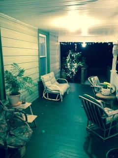 Porch at night