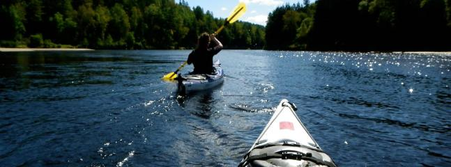 Kayaking in the summer