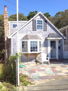 This East End cottage is directly across the road from the bay and is available year-round.