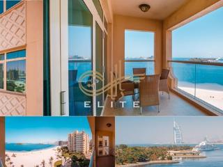 Al Sultana 2BR+ FULL SEAVIEW in Palm Jumeira, Dubái
