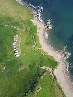 Great aerial view of the caravans