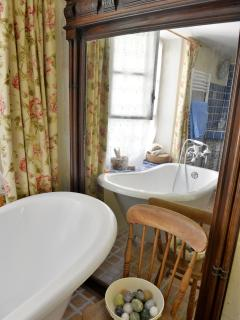 main bathroom - shower, sink, bath and toilet