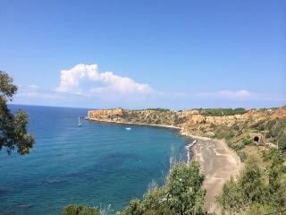 A few steps from the blue sea, near Cefalu