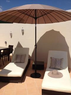 The sun terrace - for serious sun worshippers!