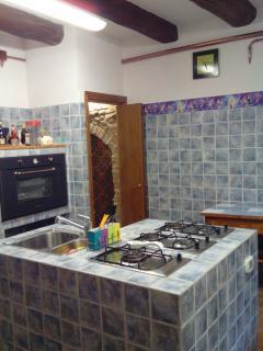 cucina casa padronale usata dai proprietari per le colazioni
