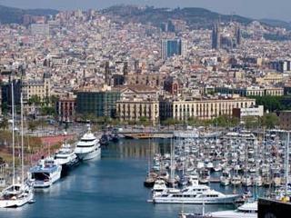 Barcelona views to Barcelona and the sea