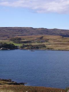 Looking over Loch Greshornish from the garden.