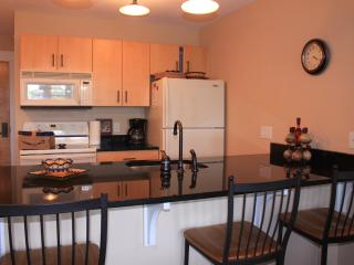 Full Kitchen - Refrig, Stove, Microwave, Dishwasher. With Utensils, Dishes, Pans.