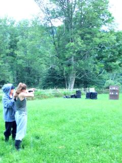 This is our BB Gun range.  We have a tin shooting challenge for family fun together.