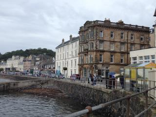Oban Times Building from Esplanade. The flat is on the top floor.