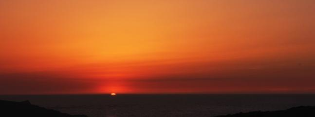 Crantock sunset from Pentire Headland