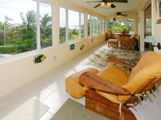 Fully enclosed lanai upstairs with lovely views