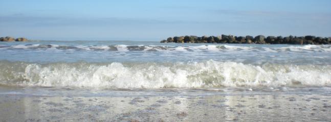 Sea view from Pescara sandy beach
