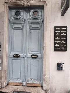 Entry door from the street, with digicode