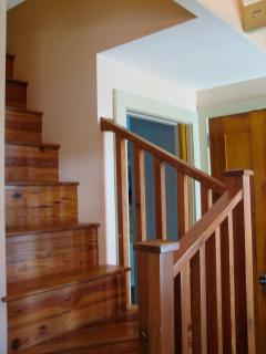 steep stair to second floor loft