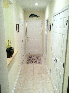 Ceramic tile entrance to condo