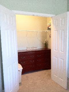 Large Master closet with dresser