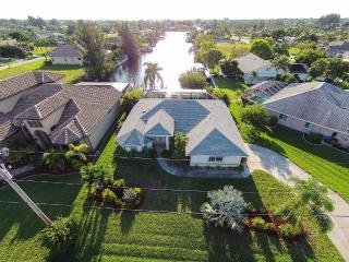 5-star pool villa, brand new, private canal access, Cape Coral