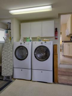 Got laundry? Feel free to use the large washer and dryer in the garage, just off the kitchen