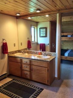 Double Sinks in Up Stairs Dressing Area