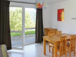 Modern flat w/ view near ski & lake