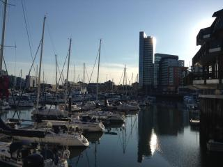 ocean village marina, restaurants, coffee shops, waterside bars. View taken less than 1 minute walk