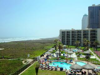 BEACH FRONT ,LARGE BALONY , IN RESORT DISTRIC.3 pools tennis, close to waterpark