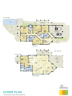 Floor plans with bed sizes