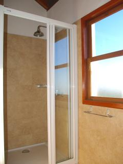 Sq metre walk in shower with sea view