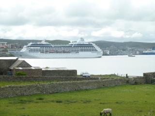 View of Lerwick Harbour from Newhall Cottage