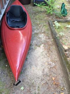 Old Town Otter Kayak available for our registered guests. Use Personal floatation device.