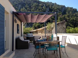 la maison bleue dans le Luberon, Robion