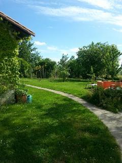 angolo del giardino casa vacanza